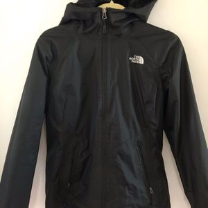 North Face Women's Black Rain Jacket- Medium